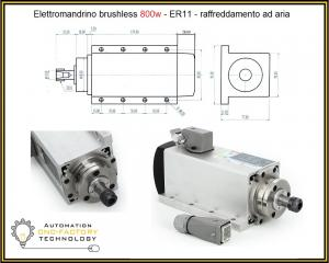 ELETTROMANDRINO BRUSHLESS 800W FLANGIATO AIR COOLED
