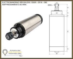 ELETTROMANDRINO BRUSLESS 1500W AIR COOLED