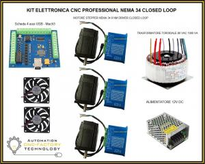 KIT elettronica cnc professional NEMA 34 Closed Loop